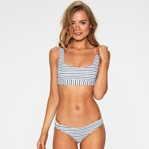 L*Space Swim Horizon Stripe SANDY Bikini Bottom
